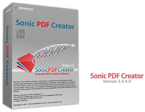 Sonic pdf creator 3.0