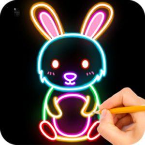 دانلود نرم افزار How to draw Glow Zoo 1.0 آموزش نقاشی به کودکان در اندروید