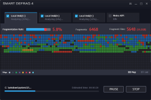 IObit Smart Defrag Pro 5.7.0.1137 یکپارچه سازی هارد دیسک کامپیوتر و بهینه سازی آن