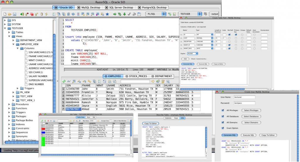 Richardson Software RazorSQL 7.3.6 نرم افزار مدیریت پایگاه داده. ایرانیان دانلود