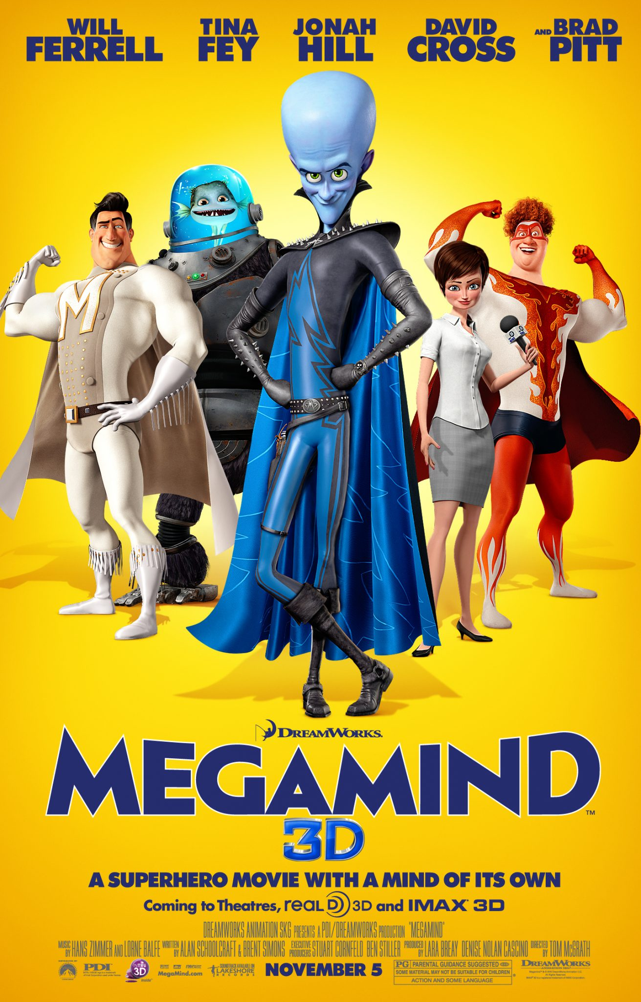 دانلود انیمیشن زیبای Megamind کله کدو - دانلود انیمیشن زیبای Megamind کله کدو دوبله فارسی