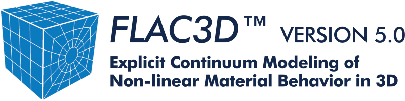 FLAC3D 5.0 + FLAC2D 7.00.413 نرم افزار شبیه سازی ساختار زمین و خاک