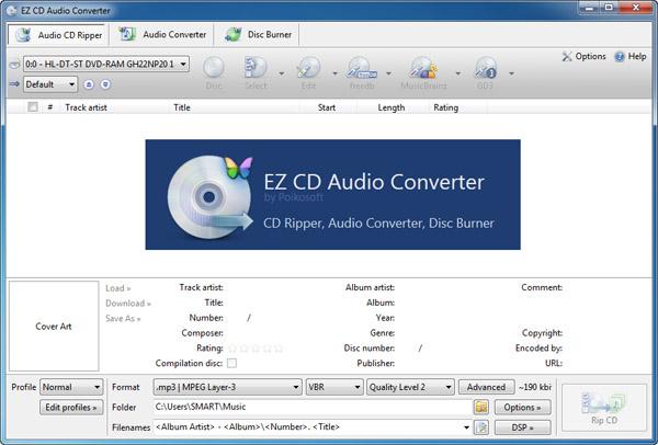 EZ CD Audio Converter 7.0.0.1 نرم افزار ریپ، رایت و تبدیل فرمت