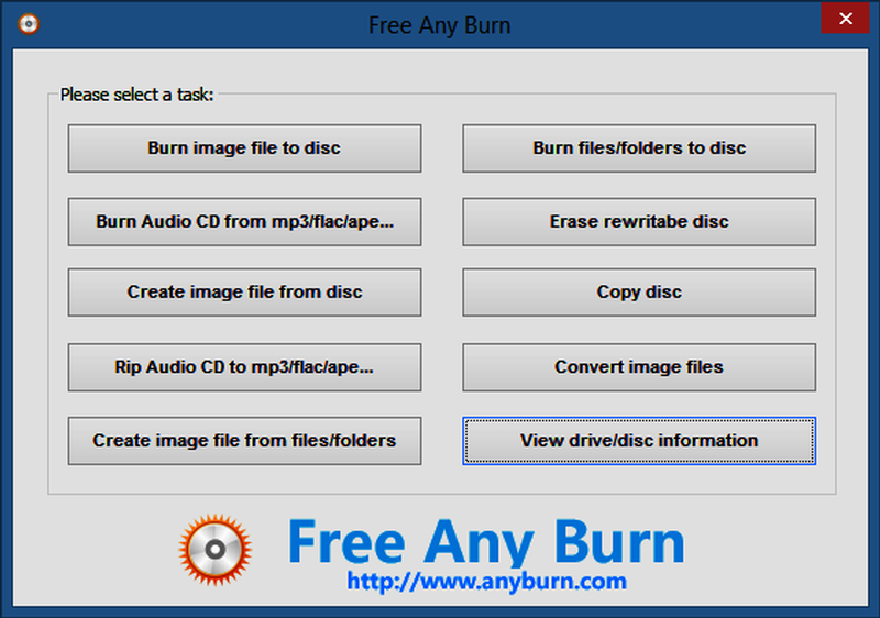 Free Any Burn 4.0 دانلود نرم افزار رایت آسان دیسک های CD و DVD