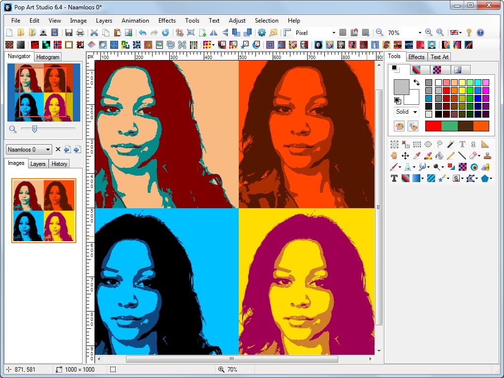 Pop Art Studio 9.0 Batch Edition نرم افزار افکت دهی Pop Art بر روی تصاویر