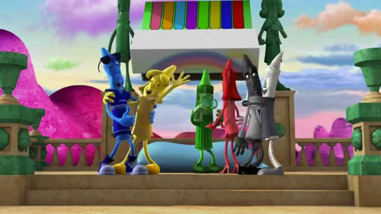 دانلود انیمیشن زیبای مداد شمعی ها The Hero of Color City دوبله فارسی