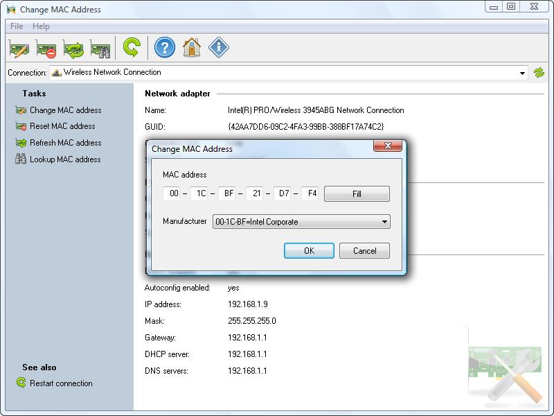 Find MAC Address 6.0.0 Build 211 نرم افزار یافتن مک آدرس های موجود در شبکه