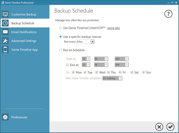 Genie Timeline Professional 8.0.1.100 نرم افزار بکاپ گیری بصورت خودکار
