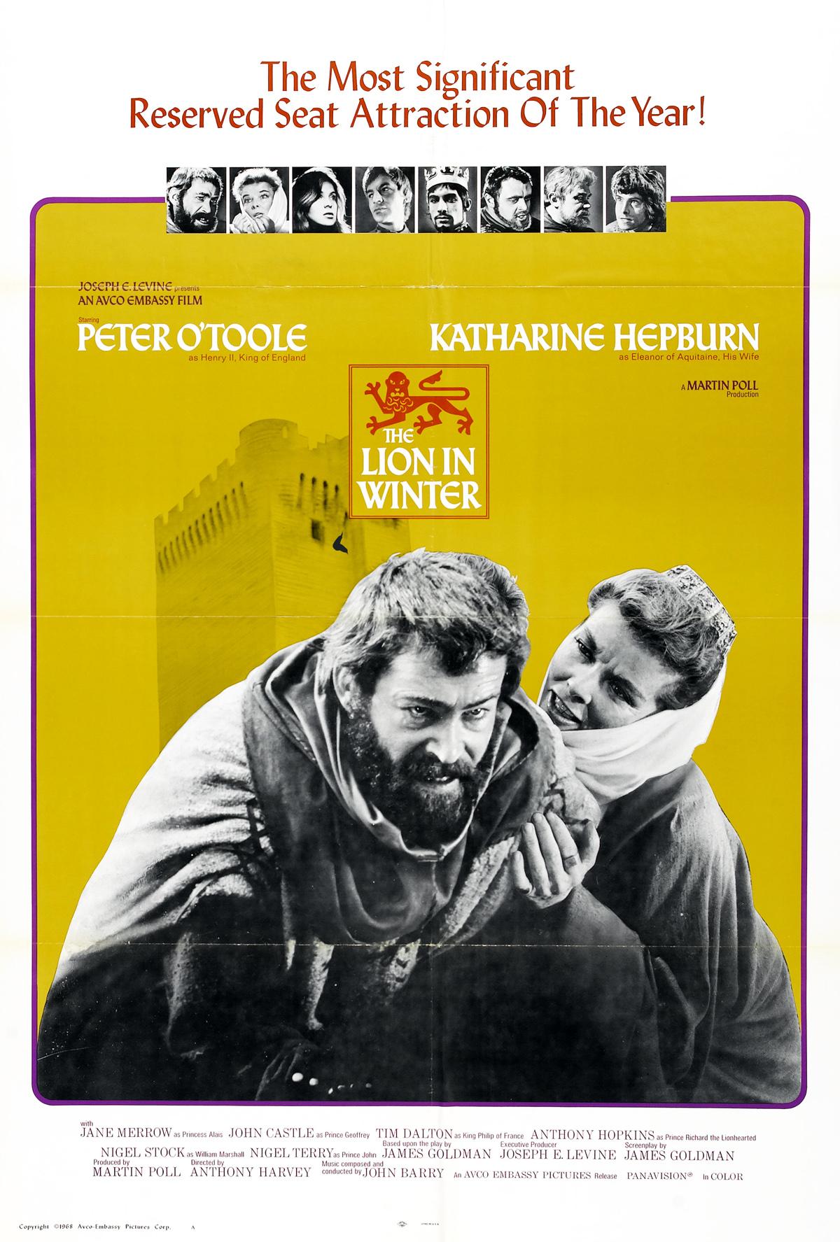 دانلود فیلم شیر در زمستان The Lion in Winter دوبله فارسی با لینک مستقیم