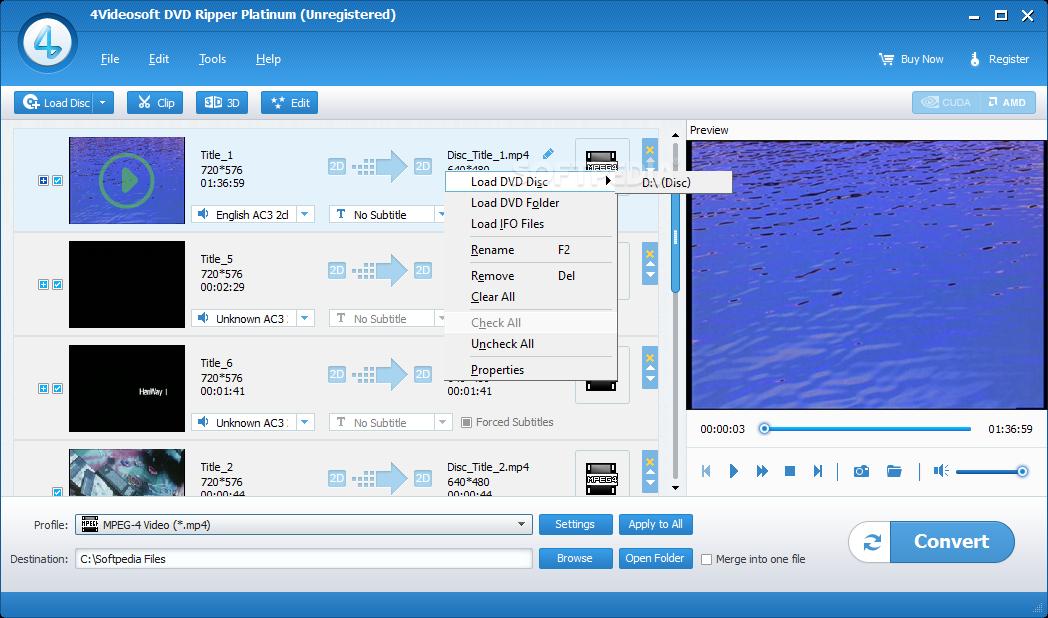 4Videosoft DVD Ripper Platinum 5.5.8 نرم افزار تبدیل فیلم های DVD