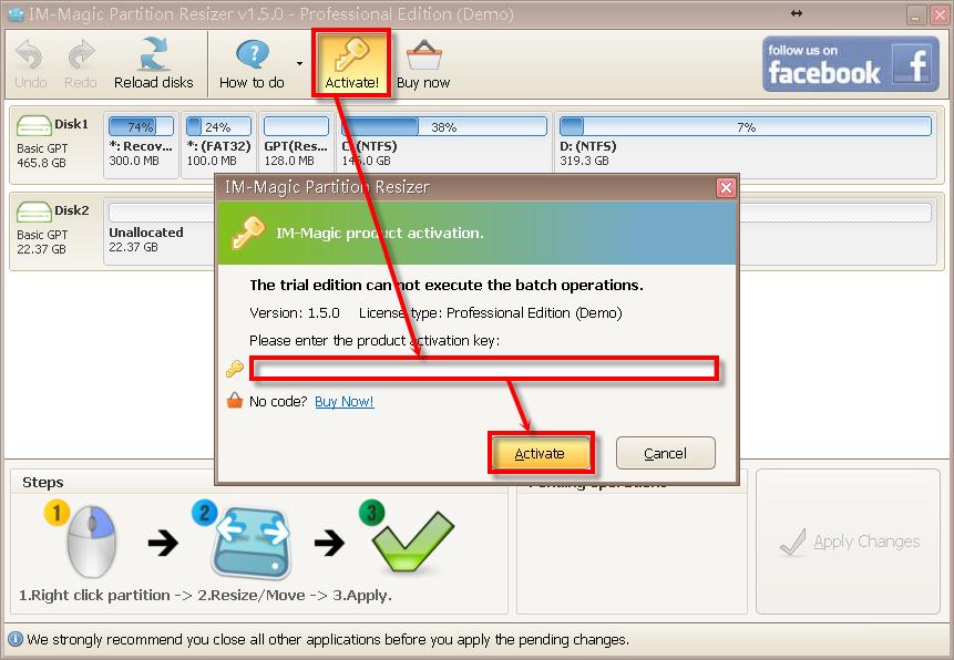 im-magic partition resizer professional key 3.2.4
