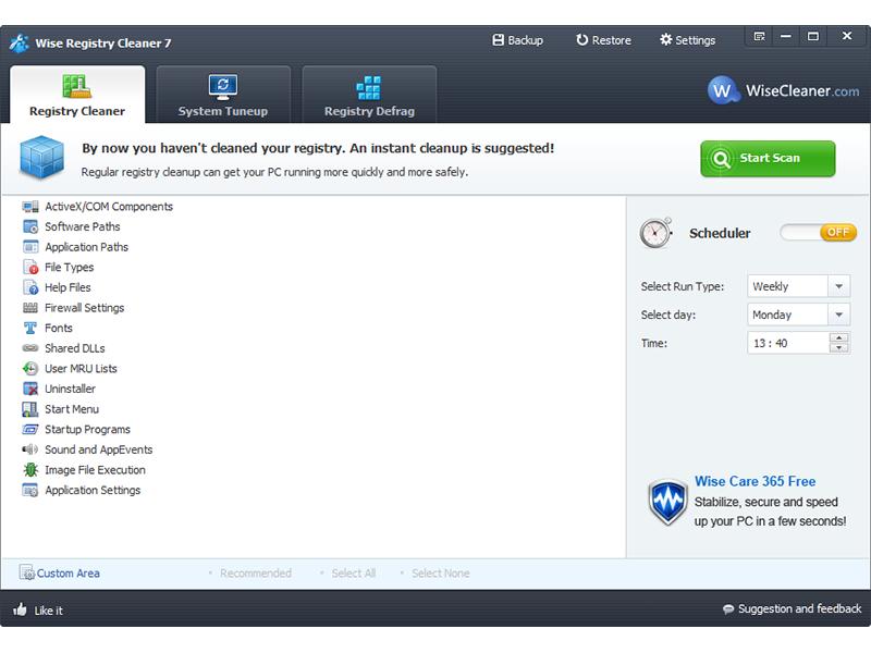 Wise Registry Cleaner Pro 9.52 نرم افزار پاکسازی و بهینه سازی رجیستری ویندوز