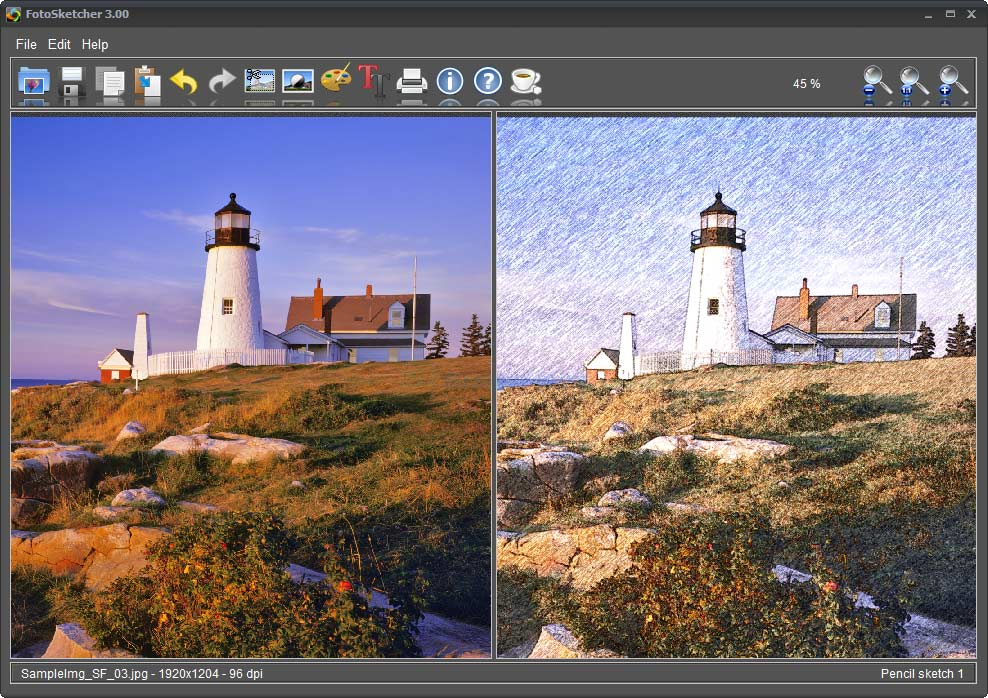 FotoSketcher 3.30 نرم افزار تبدیل تصاویر به نقاشی. دانلود FotoSketcher 3.30