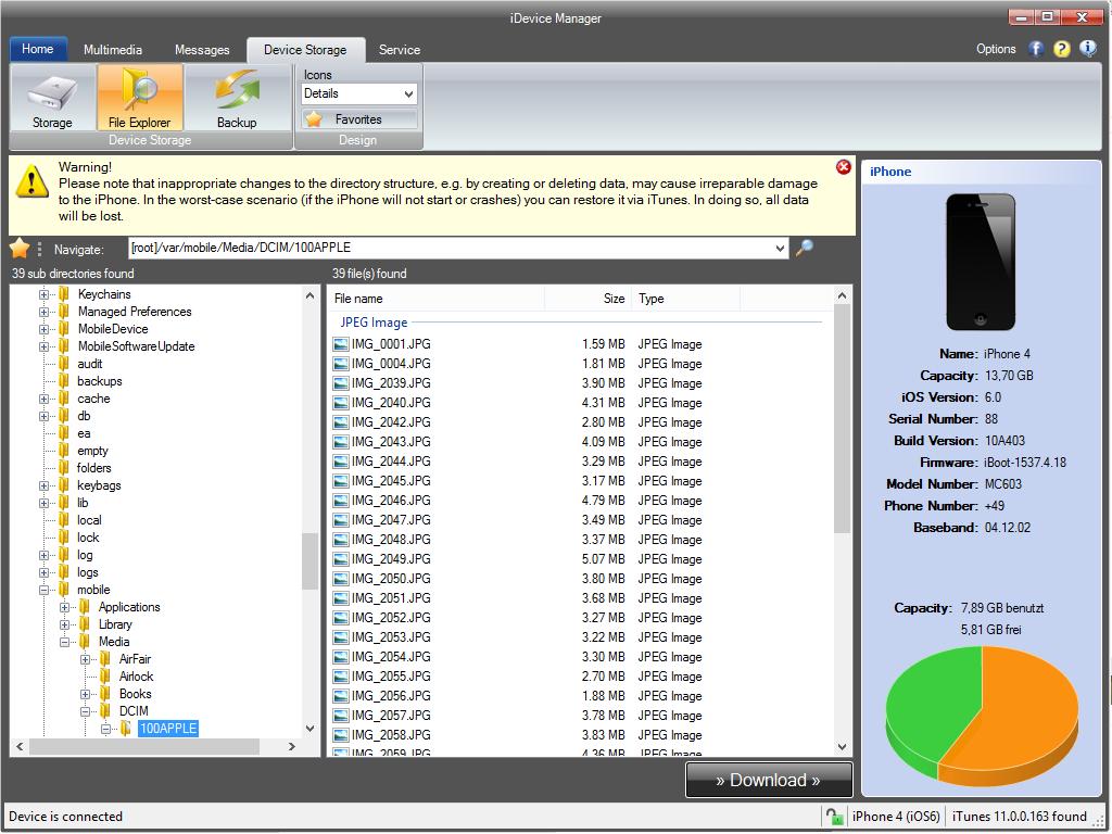 iDevice Manager 7.3.0.0 دانلود نرم افزار مدیریت فایل ها در آی دیوایس بصورت آسان و سریع. دانلود نرم افزار iDevice Manager 7.3.0.0 از ایرانیان دانلود