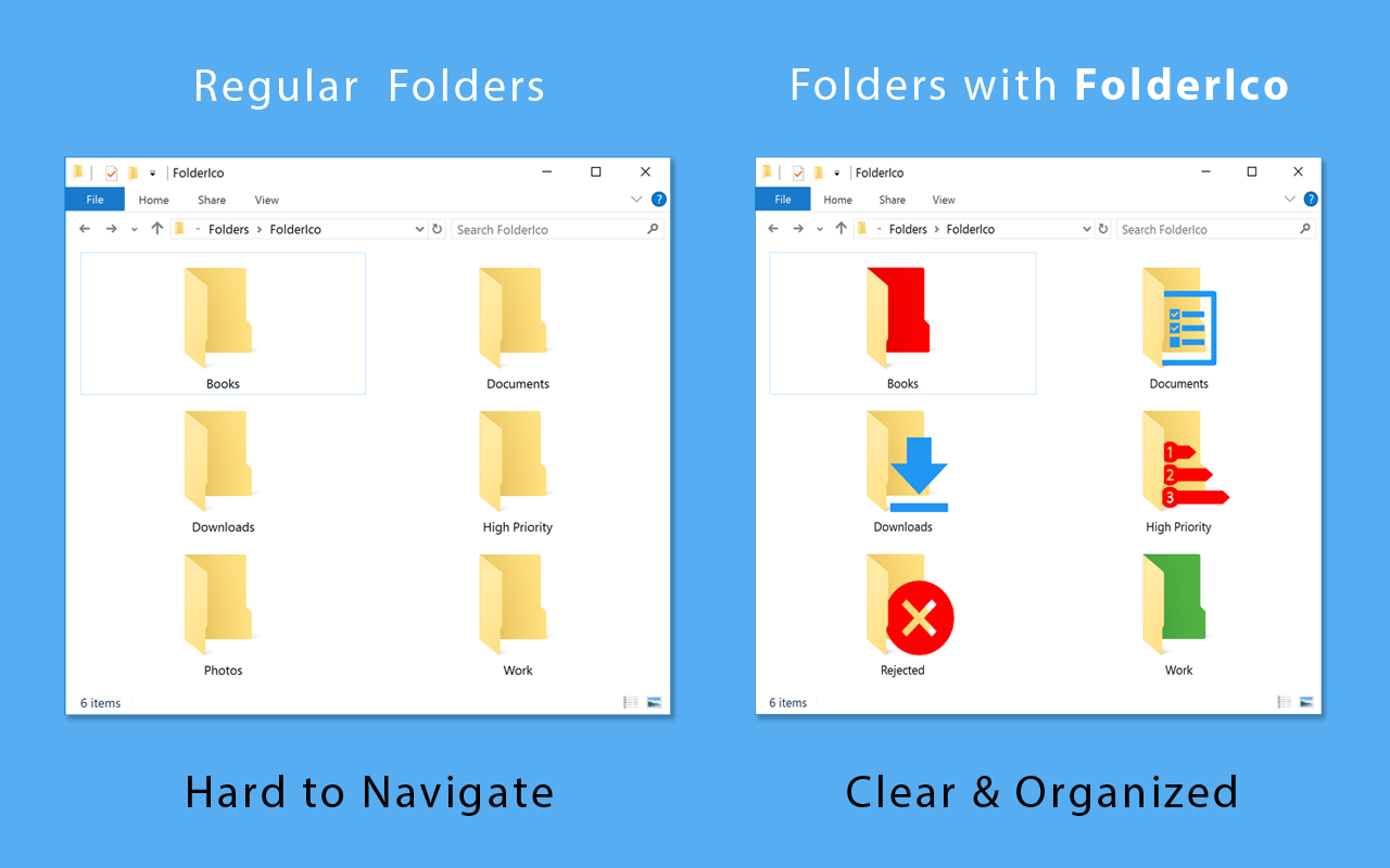 TeoreX FolderIco 5.1 نرم افزار تغییر آیکون فولدر ها. دانلود TeoreX FolderIco 5.1
