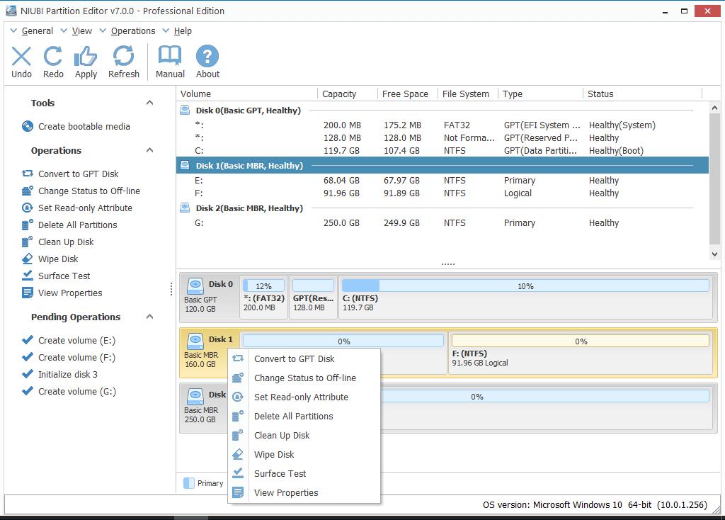 NIUBI Partition Editor Pro 7.0.7 دانلود نرم افزار پارتیشن بندی هارد دیسک
