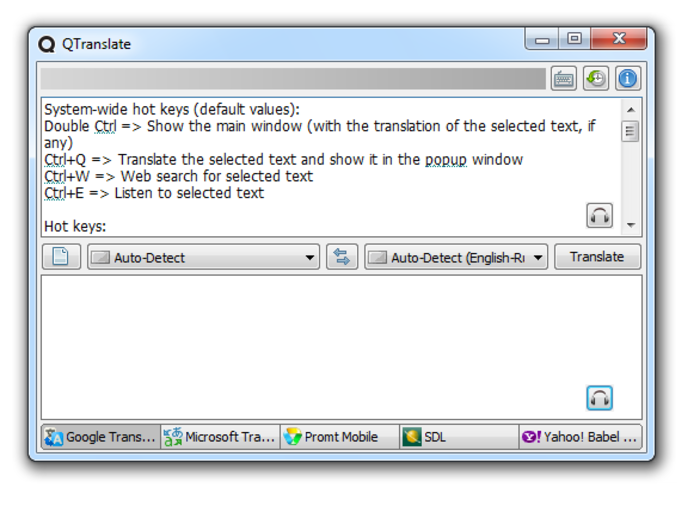 QTranslate 6.5.0 نرم افزار مترجم برای کامپیوتر. دانلود QTranslate 6.5.0