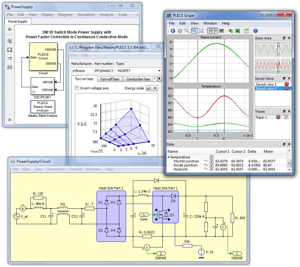 Plexim Plecs Standalone 4.1.2 دانلود نرم افزار طراحی مدار های الکترونیکی