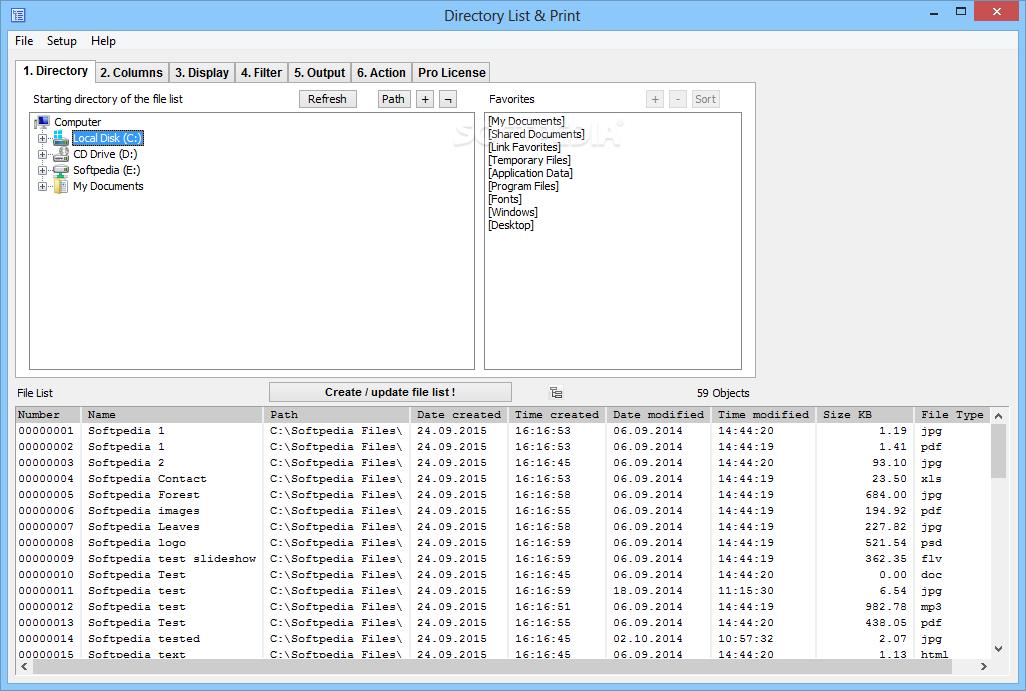 Directory List & Print Pro 3.43 نرم افزار تهیه لیست از پوشه ها و فایل های ویندوز