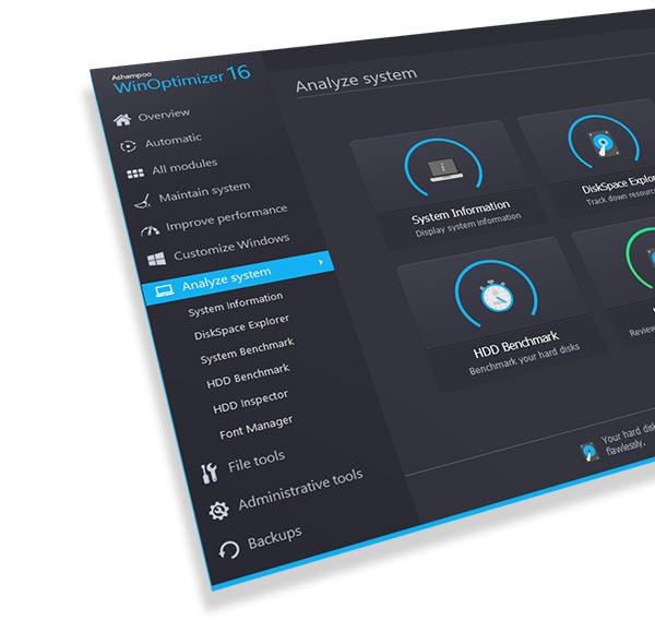 Ashampoo WinOptimizer 16.00.10 نرم افزار بهینه سازی کامل سیستم. دانلود رایگان